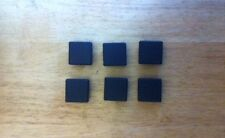 6 of  30 x 30mm square outside dimension Plastic End Caps for metal tube