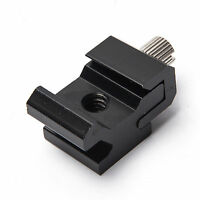 Camera Cold Shoe Hot Shoe To 1/4 Screw Flash to Bracket Mount Adapter Adjustable