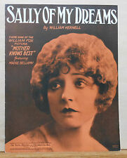 "Sally of My Dreams - 1928 Sheet Music, movie ""Mother Knows Best"", Madge Bellamy"