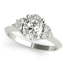 2.20 Ct Oval Cut Diamond Engagement Wedding Ring Solid Gold Anniversary Rings S2