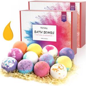 24x Badebomben Bio-Bad Fizzy mit Geschenkbox Haut Feuchtigkeit Blasen Gift Set