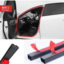 5M B Type Car Door Edge Dustproof Soundproof Rubber Seal Sealing Strips Black