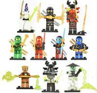 Ninja Ninjago Minifigure Lloyd Cole Jay Toys Lot Mini 10pk for LEGO