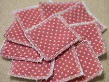 Reusable Make Up Remover Pads X 10 100% Cotton Pink Polka Dot Eco Shabby Chic