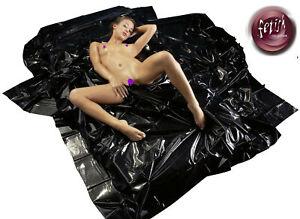 Sheet matrimoniale Cover Mattress Vinyl Black For Massage Of Couple