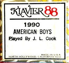 Klavier 88 AMERICAN BOYS 1990  J. Lawrence Cook Hand Played Player Piano Roll
