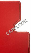 Fußmatten passend für Porsche Cayman Bj. 05-08 in Velours Deluxe rot ohne Sounds