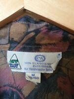 True Vintage C&A Silk Abstract Print Shirt Size M
