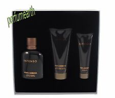 Dolce & Gabbana Intenso Pour Homme 3 Pcs Set 4.2oz. Edp Spray For Men New In Box