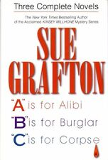 SUE GRAFTON - SIGNED - A IS FOR ALIBI, B IS FOR BURGLAR, C IS FOR CORPSE 3in1 Ed