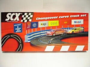 SCX Original Analogue 88440 Changeover Curve track set 1/32 scale slot new