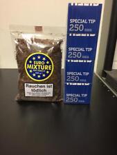 1 x EURO Mixture 250 Gramm  Tabak Beutel + 1000 Gizeh Special Tip Hülsen