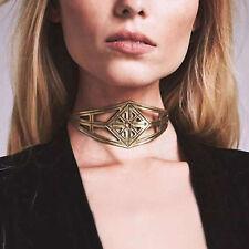 New Vintage Irregular Gold Statement Bib Choker Chain Pendant  Necklace Jewelry