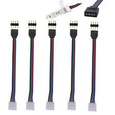 Wow - 5X 10mm 4 Pin Rgb 5050 3528 Tira de Luz LED PCB Conector Cable Adaptador