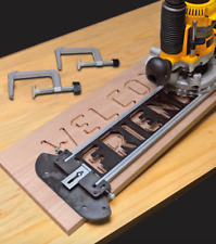 Milescraft Router Jig Set Wood Sign Making Tools Bits Kit Number Letter Template