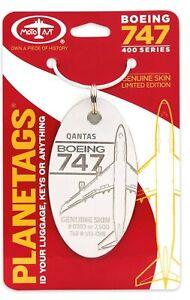 Planetags - Qantas Boeing 747-400 Tail # VH-OJN - WHITE - Genuine Skin