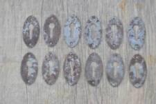 Vintage iron drawer dresser jewelery cabinet furniture escutcheon key hole cover