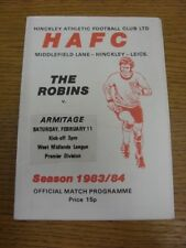11/02/1984 Hinkley Athletic v Armitage  (Light Crease). Thanks for viewing this