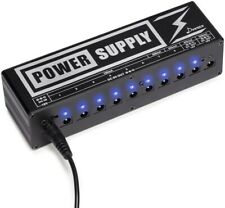 Donner DP-2 Guitar Pedal Power Supply 10 Isolated DC Output for 9V/12V/18V NEW