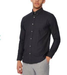NWOT Debenhans 5XL big and tall business shirt black jacquard