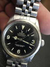 Vintage 1967 ROLEX 1016 Explorer Oyster Perpetual with Stainless Steel Band NR!