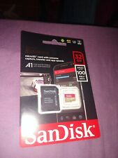 NEW SanDisk 32GB Extreme microSD Card 100MB/s + SD Adapter