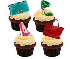 Shoes and Handbags Edible Cupcake Toppers, Standup Fairy Cake Decorations Girl