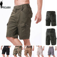 Mens Cargo Shorts Military Tactical Combat Hiking Multi Pocket Army Casual Pants