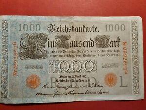 1000 Mark 1910 Reichsbanknote Eintausend Mark