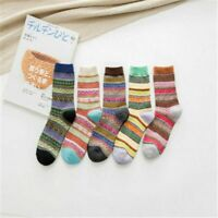 Winter Socks Ladies Thick 5 Pairs Women Wool Cashmere Soft Warm Casual