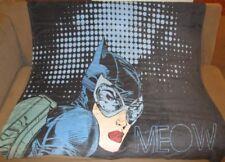 New Rare Catwoman Plush Throw Gift Blanket Girl Dc Comics Batman Super Villain