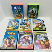 8 Kid's DVD LOT BUNDLE-Dora's Halloween,Rango,Bob the Builderx2,Over the Hedge,