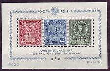 Polen 1946 postfrisch MiNr. Block  9  Bureau International d´Education (BIE),