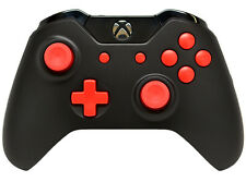 """BLACK/RED"" XBOX ONE RAPID FIRE MODDED CONTROLLER 40 MODS COD BO 3 IW GOW 4"
