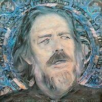 LIMITED PRINT Alan Watts Mandala Eastern Visionary Portrait Painting Wall Art