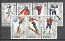 S1630 - BURUNDI 1968 - SERIE COMPLETA OLIMPIADI INVERNALI - VEDI FOTO