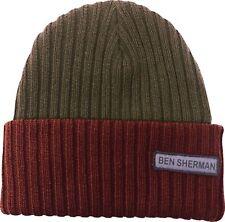 Ben Sherman Omani Beanie Hat Green Mens Womens Winter Fashion Designer Authentic