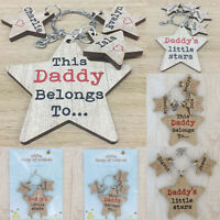 Personalised Daddy Keyring Gift This Dad Belongs to Grandad Nanny Mummy Nan Star