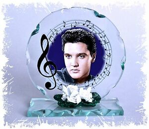 Elvis Presley 'Wonder of You' Cut Glass Round Plaque Limited Edition
