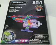 Laser Pegs Helicopter 8 in 1 G1270B Works With Lego 90 Pieces