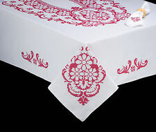"""Stamped Embroidery Tobin Nostalgic Charm Tablecloth 58"""" x 90"""" #T202786-90 SALE!"""
