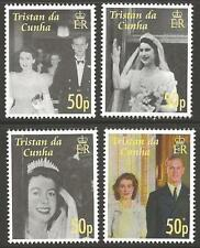 TRISTAN DA CUNHA SG878/81 2007 DIAMOND WEDDING OF QUEEN ELIZABETH  MNH