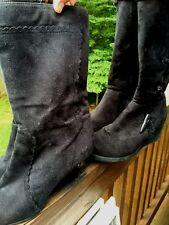 George & Free Pair of Wornens Sz 10 Boots Black High Heels Mukluks Yeti LOT 2 /