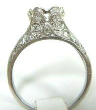 Antique Art Deco Vintage Mounting Setting Mount Platinum Hold 6.5MM Ring Sz 6.5