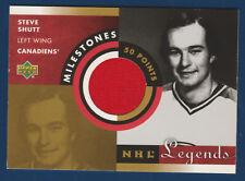 STEVE SHUTT 2001-02 UPPER DECK NHL LEGENDS MILESTONES 50 POINT GAME JERSEY 22437