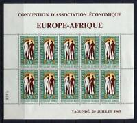 36281) Niger 1963 MNH Europafrica Ms