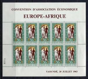 36281) Niger 1963 MNH Europafrica Ms
