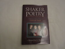 Shaker Poetry A Poetic History by jacqueline G. Masten (2003, Hardcover)