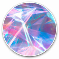 2 x Vinyl Stickers 7.5cm - Funky Fun Holographic Retro Cool Gift #12873