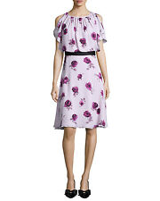 kate Spade Silk Chiffon Encore Rose Dress Size:10 $478 NWT